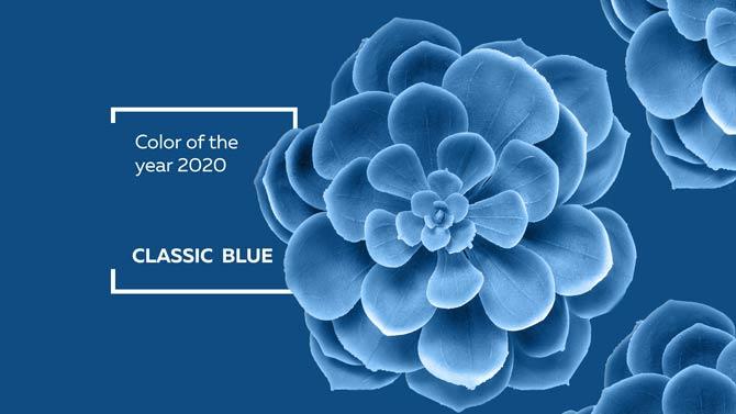 Classic Blue die Farbe des Jahres2020