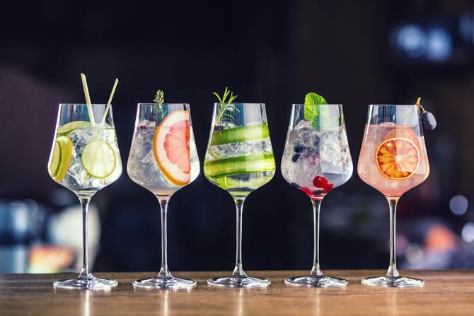 Cocktails mit Wein