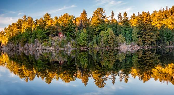 Die Farben des Herbstes in Ontario