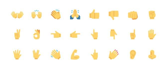 Emojis Handgesten