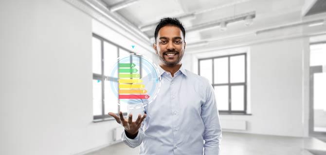 Energieeffizienzklassen eines Gebäudes