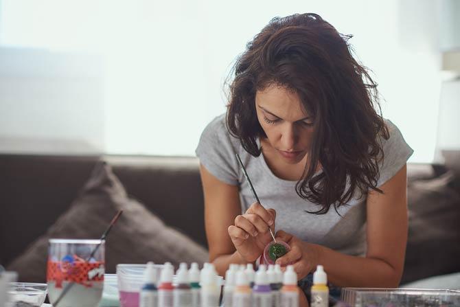 Entspannung beim Malen nicht verwunderlich, sondern ein einfacher natürlicher Prozess