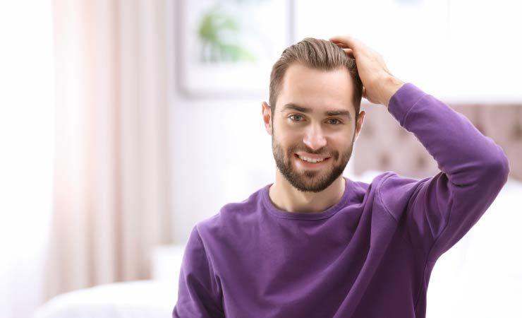 Erfolgreiche Haartransplantation