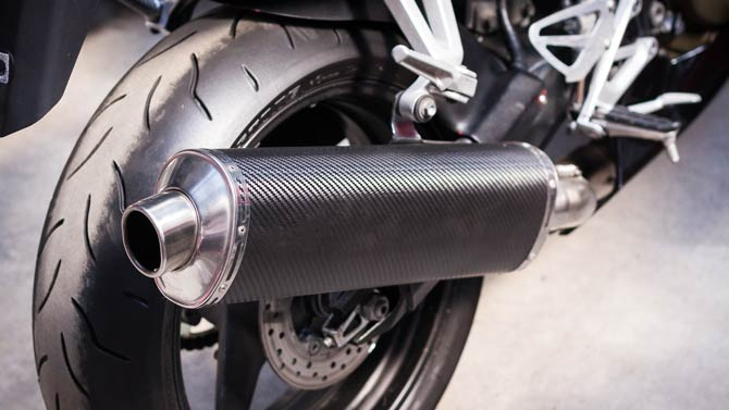 Erhöhte Lärmbelästigung durch Motorräder