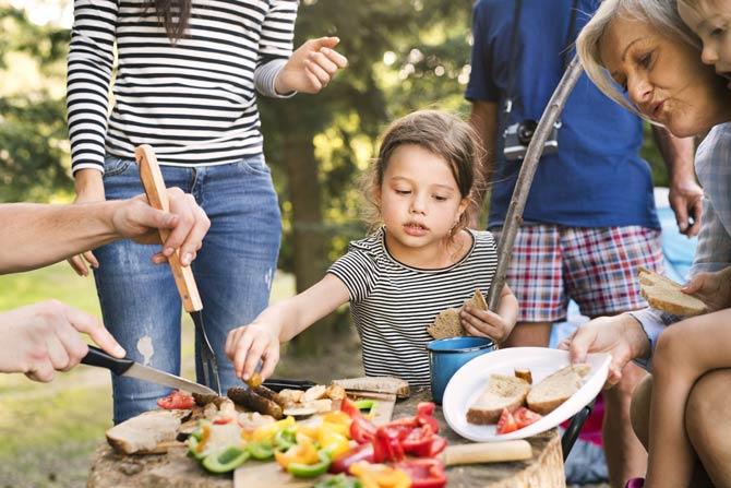 Essen beim Campingurlaub