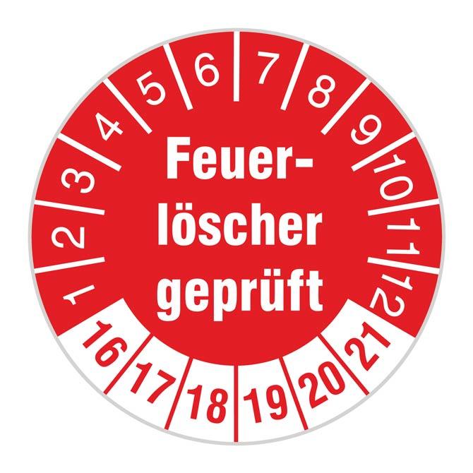 TÜV-Plakette Feuerlöscher