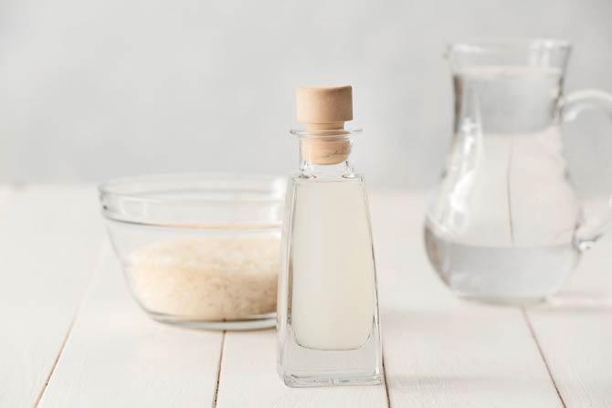 Flasche mit Reiswasse