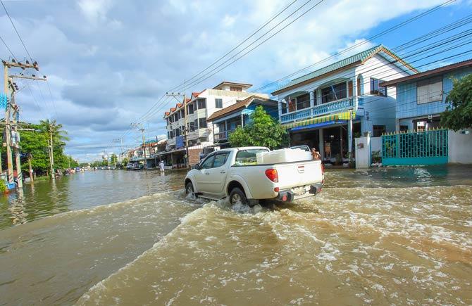 Flutkatastrophe in Thailand im Jahr 2011