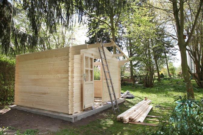 Gartenhaus mit Fundament