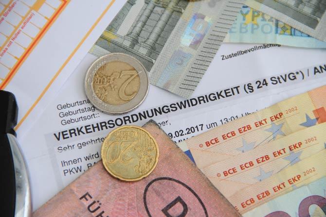 Geldstrafe und Punkt in Flensburg möglich