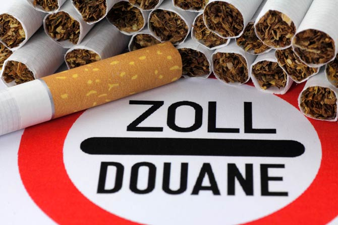 Geschmuggelte Zigaretten