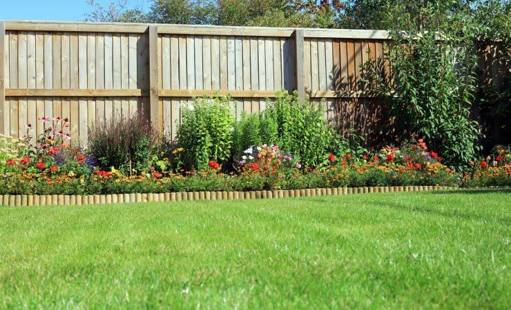 Grenzbebauung im Garten