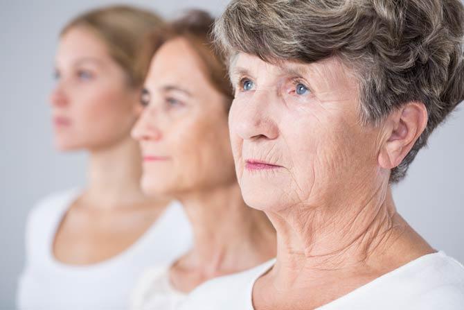 Haut regeneriert im höheren Alter nicht mehr so häufig