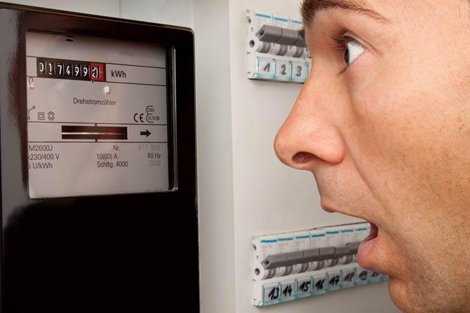 Hohe Stromrechnung