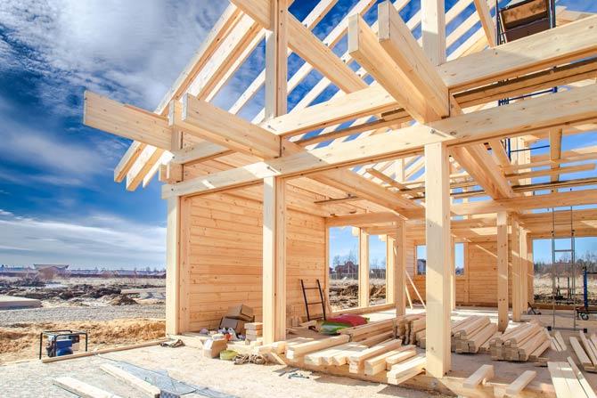 Holzhaus - Schnellerer Bauprozess
