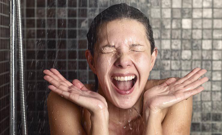 Kalte Dusche vor dem Schlafengehen