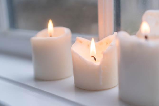 Kerzenpflege - offene Fenster