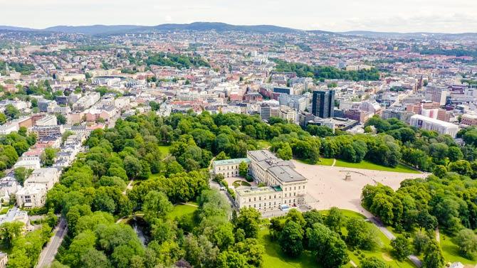Der historische Königspalast von Oslo
