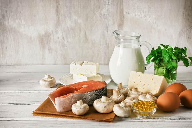 Lebensmittel, die reich an Kalzium und Vitamin D sind