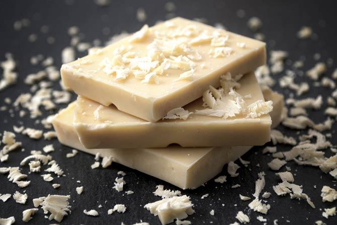 Weiße Schokolade enthält am meisten Zucker
