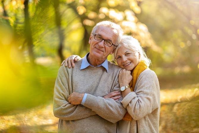 Menschen im hohen Alter noch gesund und fit