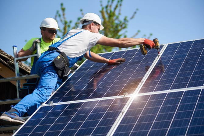 Montieren einer Photovoltaikanlage