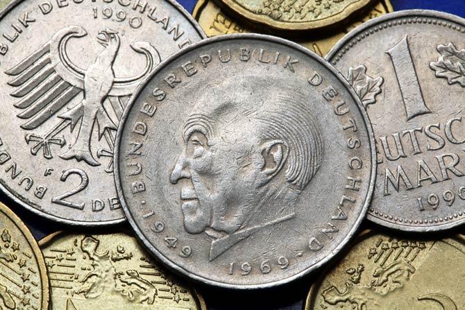 Münze von Konrad Adenauer