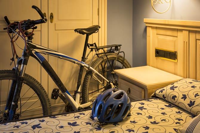 Für Radfahrer geeignete Unterkunft