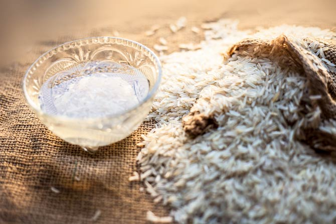 Reis mit Reiswasser