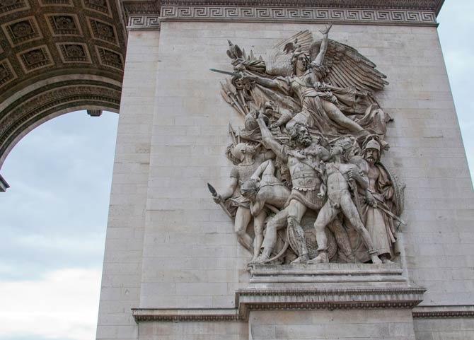 Relief am Arc de Triomphe