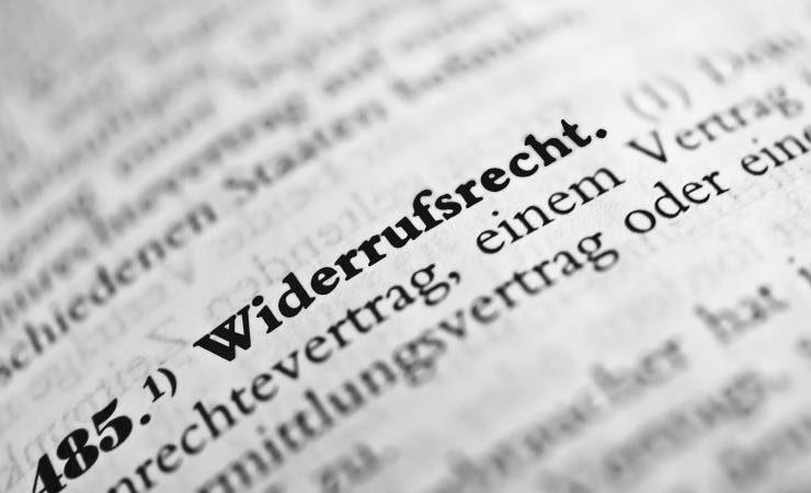 Rückgabe- und Widerrufsrecht