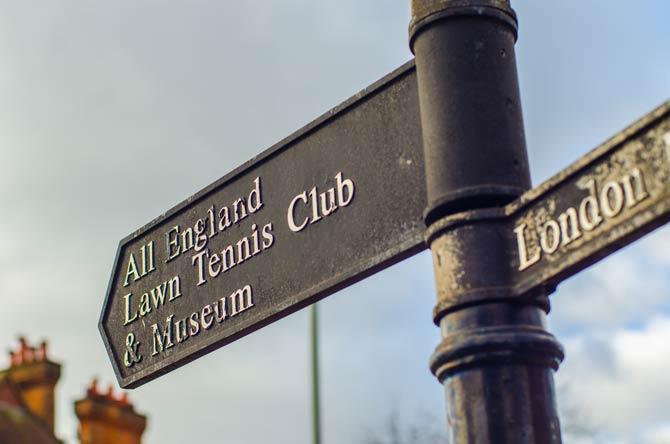 Schild vom All England Club