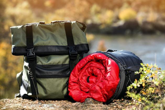 Schlafsack für den Campingurlaub
