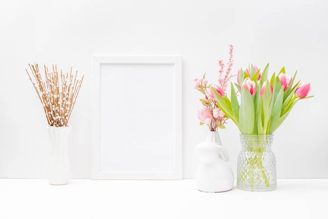 Schlichte Blütenzweige liegen im Trend
