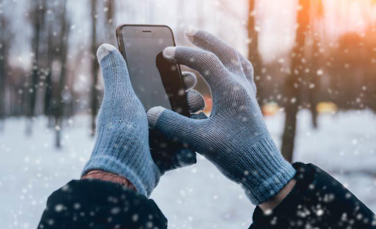 Smartphone und Minusgrade