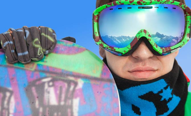Snowboard Brille