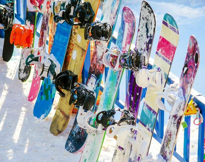 Das Snowboard ist der wichtigste Teil der Ausrüstung