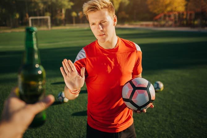Sportler sollten auf Alkohol verzichten