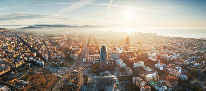Stadtzentrum von Barcelona