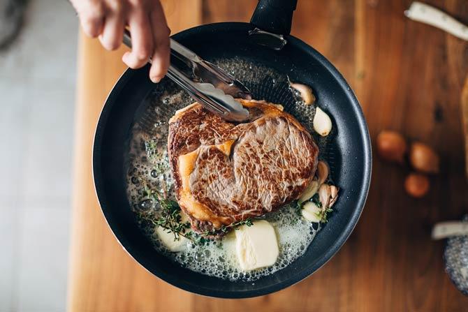 Steak in Butter braten