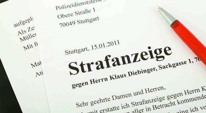 Strafanzeige - Identitätsdiebstahl