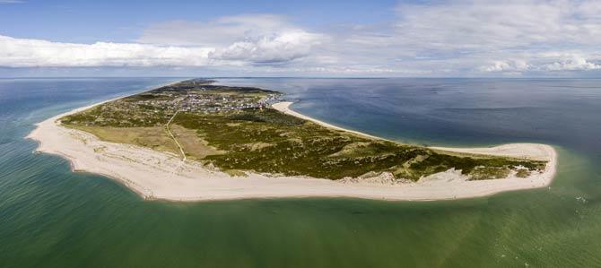 Luftaufnahme der Insel Sylt