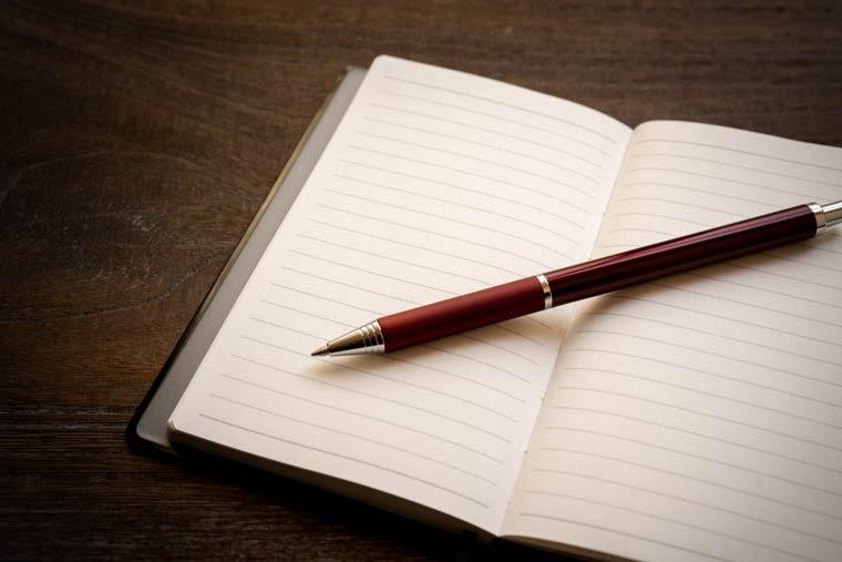 Tagebuch schreiben - Druck vermeiden