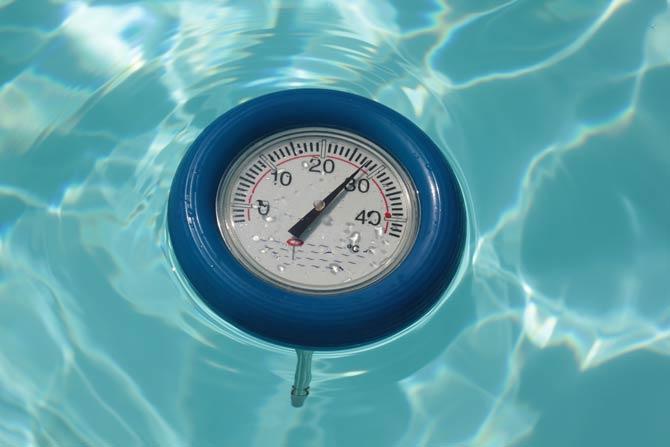 Temperatur im Pool