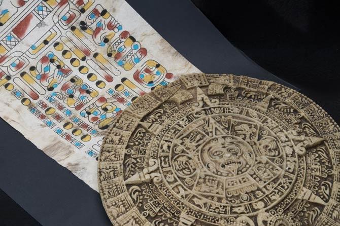 Traditionelle Schriften der Maya