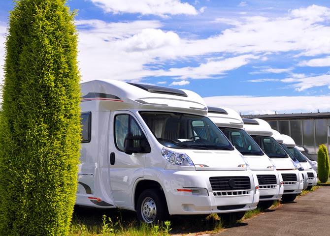 Viele Wohnmobile und Wohnwagen sind für die Hauptsaison schon vergeben