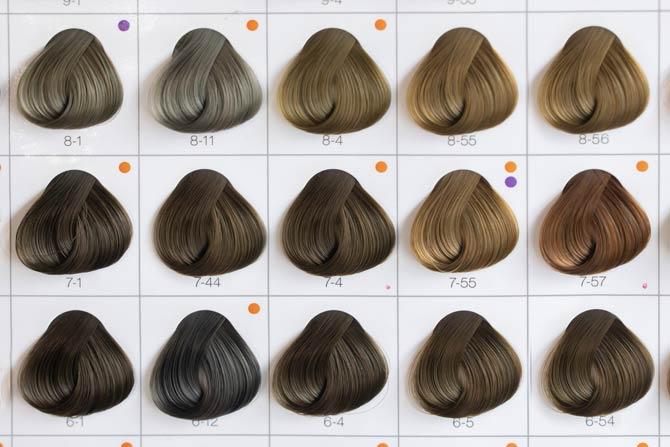 Wahl der Haarfarbe