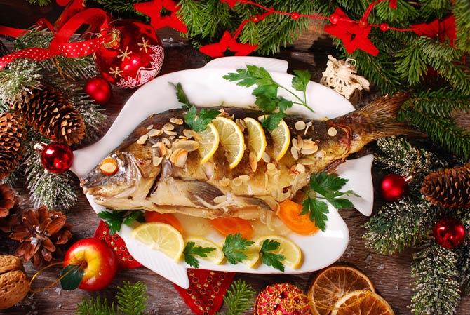 Weihnachtsessen Fisch