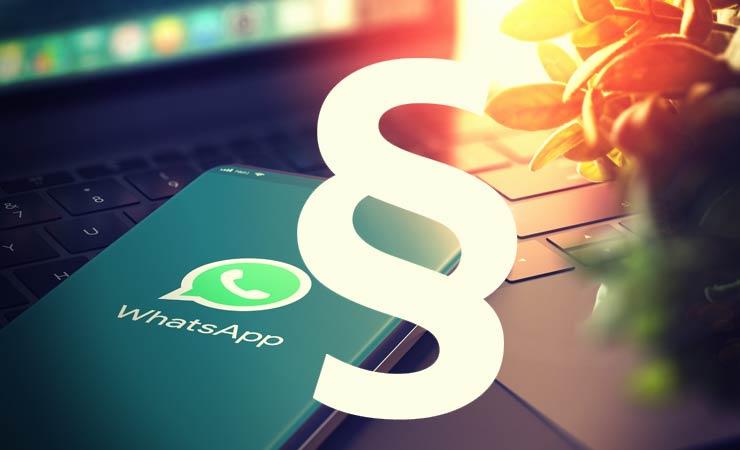 WhatsApp wird wegen Verstoßes gegen die EU-Datenschutzbestimmungen verurteilt