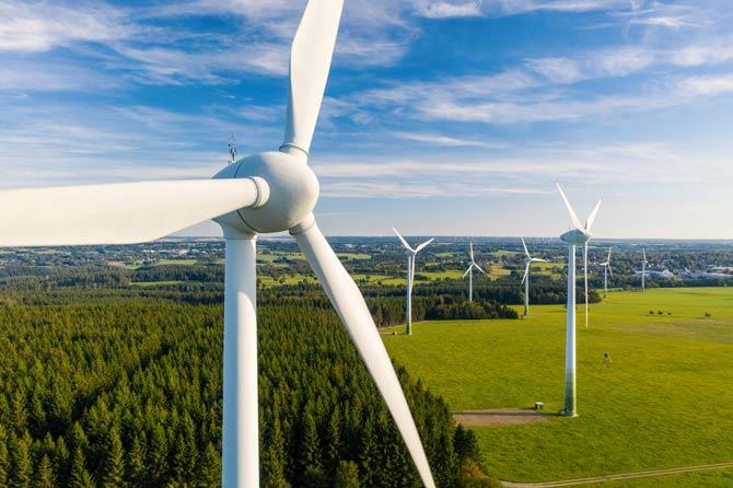 Zunahme an Windrädern